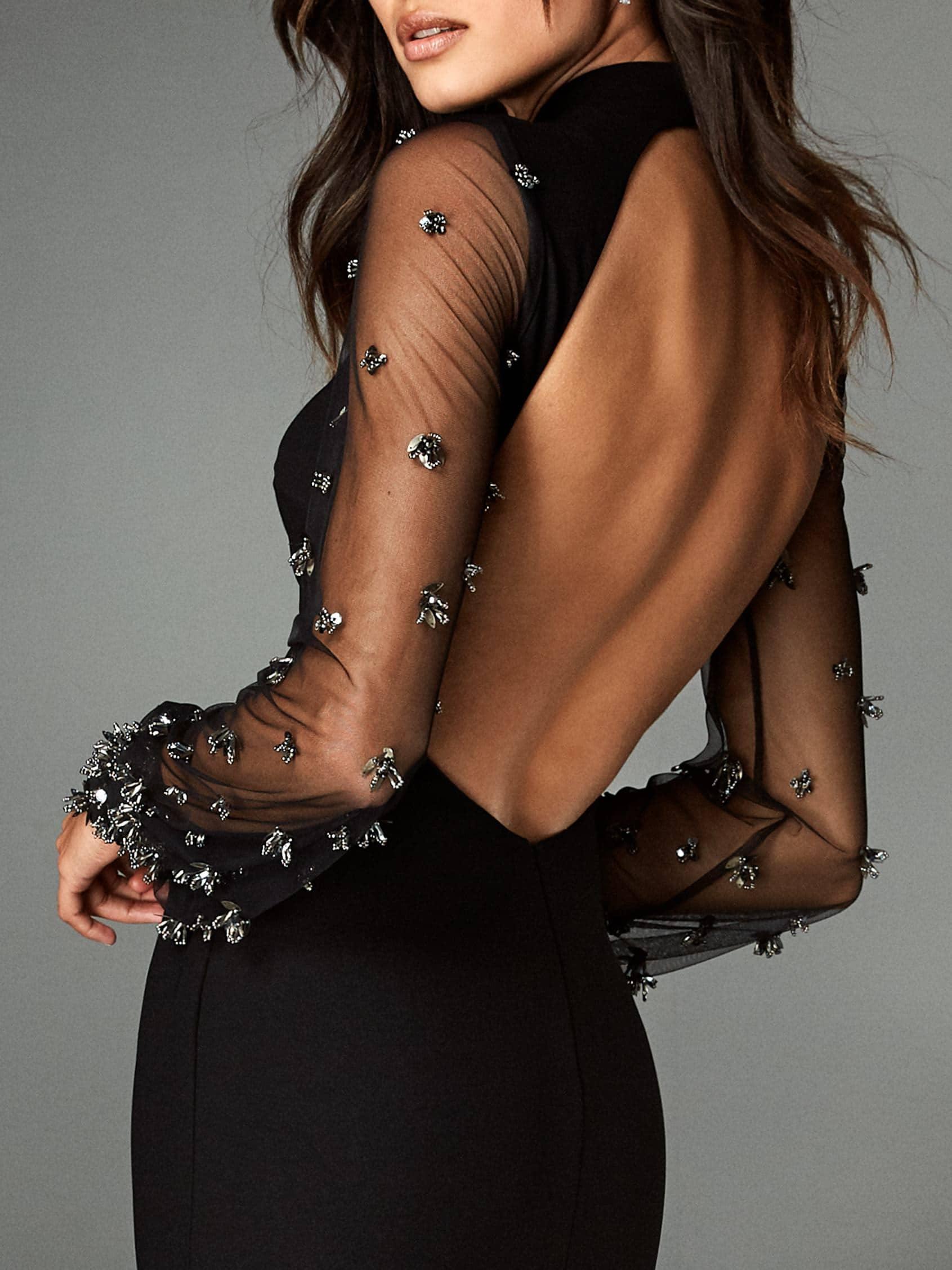 zwarte avondjurk