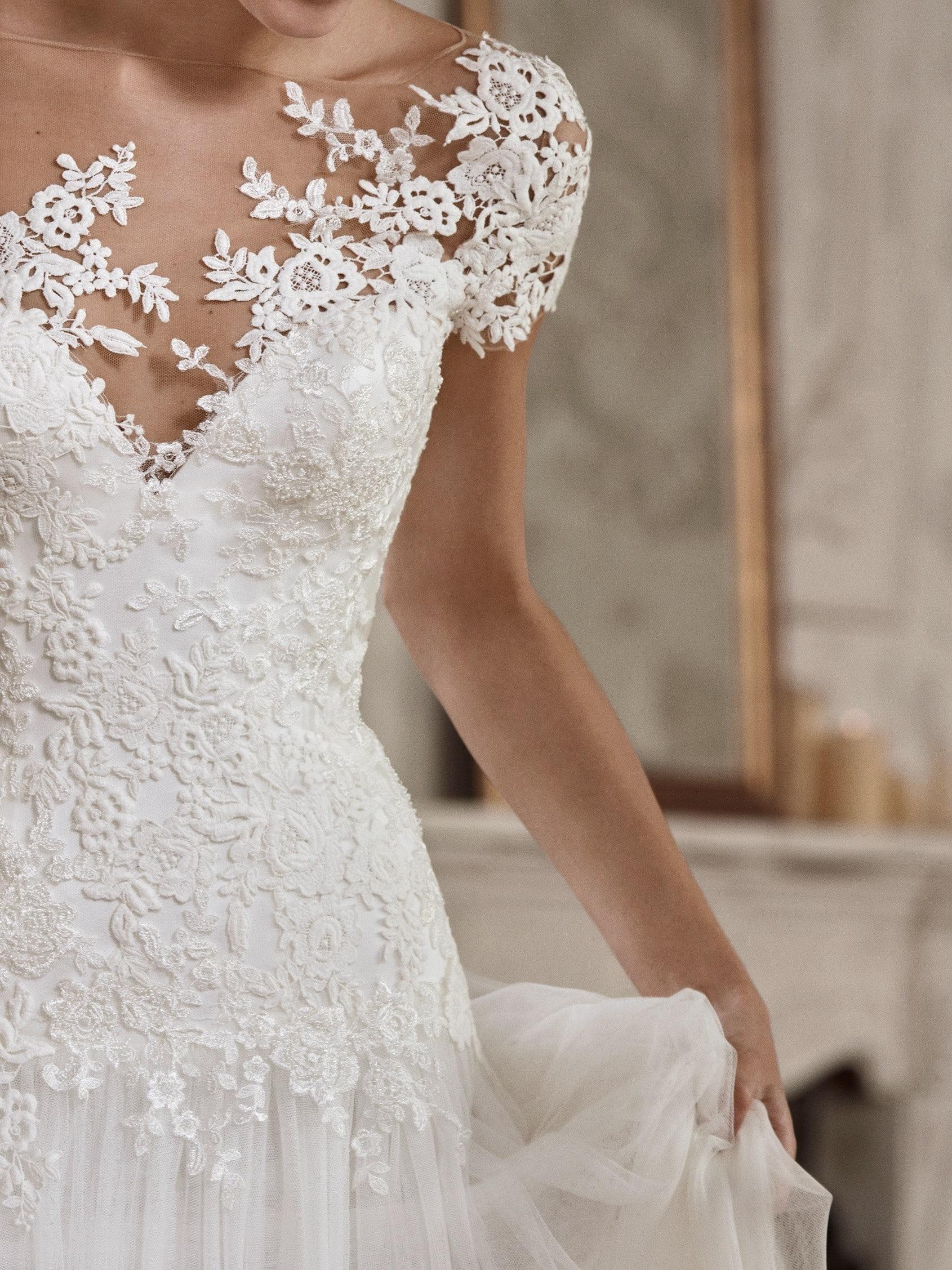 ALGAIDA st patrick kanten trouwjurk