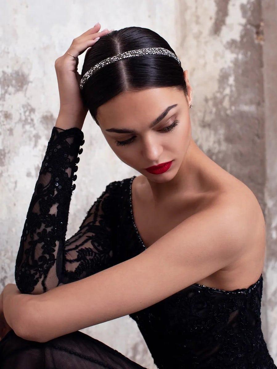 Sapphire zwarte trouwjurk pronovias