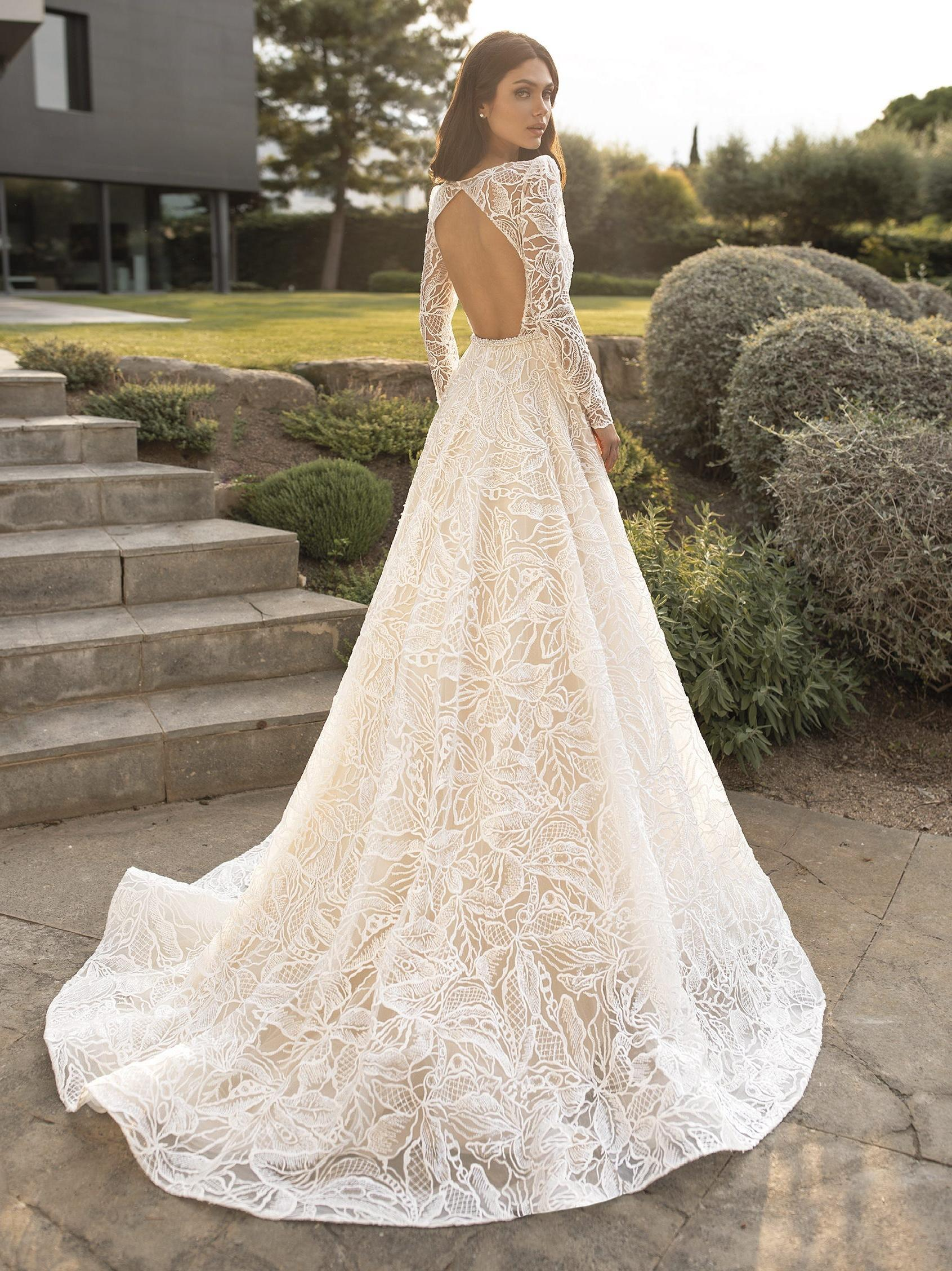 pronovias trouwjurk lange sleep