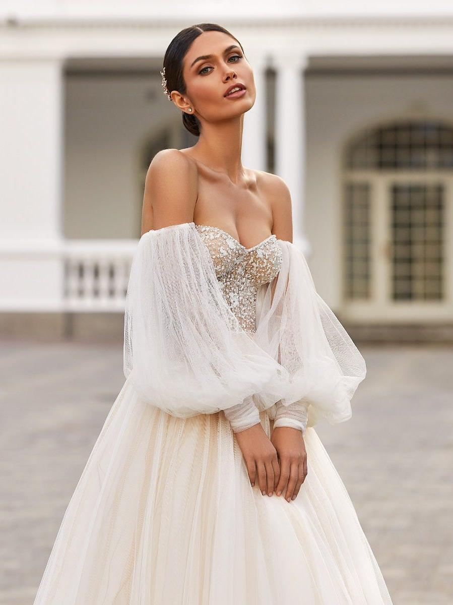 trouwjurk strapless pronovias